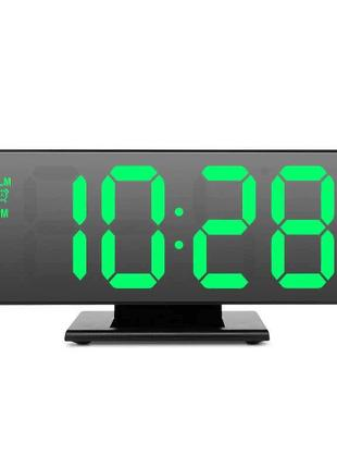 Электронные настольные часы зеркальные 3618 время/дата/температур