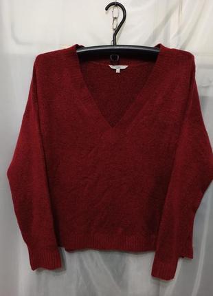 Женская кофта свитер джемпер. однотонная на невысокой рост. гл...