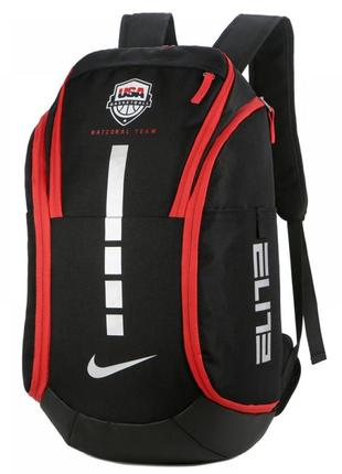 Рюкзак с карманом для мяча nike hoops elite pro usa black
