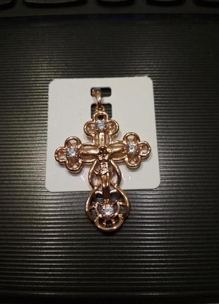 Крестик из медицинского золота крест xuping
