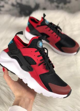 Кроссовки   air huarache ultra black red
