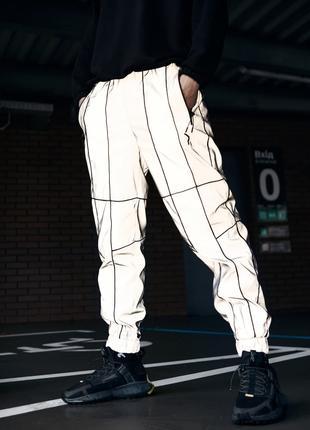 Спортивные штаны Пушка Огонь Bard рефлективные с кантом
