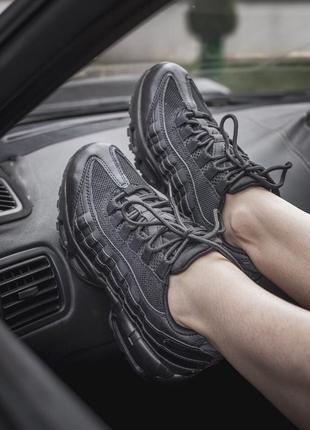 Шикарные кроссовки nike air max 95 черные