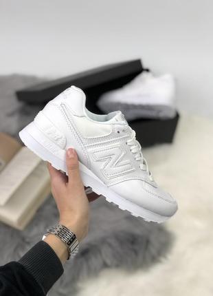 Шикарные женские кроссовки new balance в белом цвете