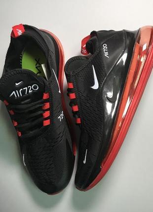 Кроссовки air max 720 black red