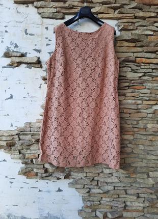 Кружевное на подкладке платье 👗 большого размера