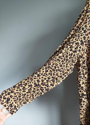 Леопардовая блузка батал