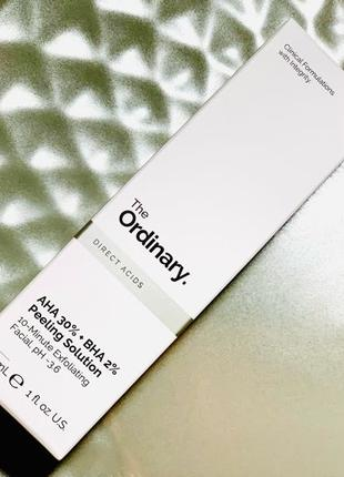 Кислотний пілінг The Ordinary -AHA 30% + BHA 2% Peeling Solution