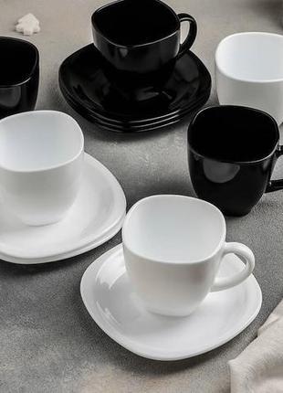 Чайный сервиз Carine White&Black 12 пр.