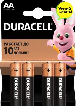 Батарейки Duracell MN1500 AA (LR6, 316) 4 шт. Бельгия