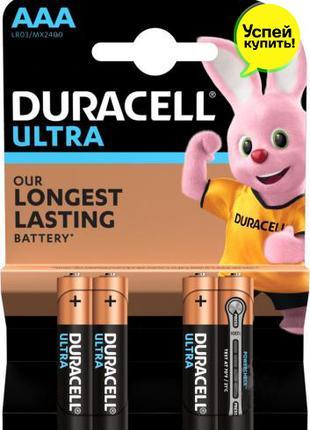 Батарейки Duracell Ultra MN2400 AAA (LR03, 286) 4 шт. Бельгия