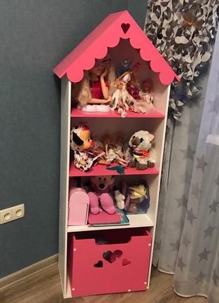 Кукольный стеллаж домик Эко материалы Стеллаж в детскую