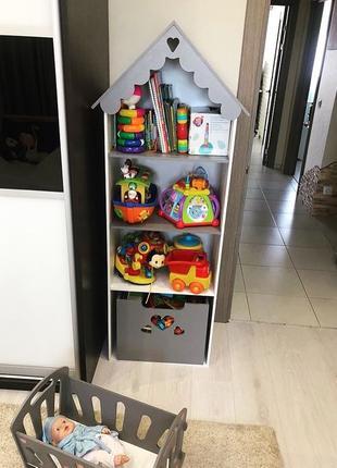 Мебель в детскую Стеллаж домик Эко Кукольный домик стеллаж Барби