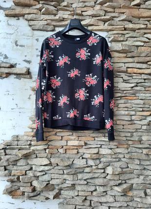 💯% котоновый в цветы 💐 пуловер большого размера