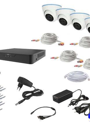 Комплект видеонаблюдения AHD 4IN 8MP