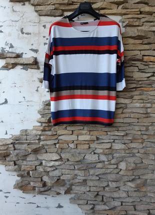 Стильный вискозный пуловер,  лонгслив большого размера