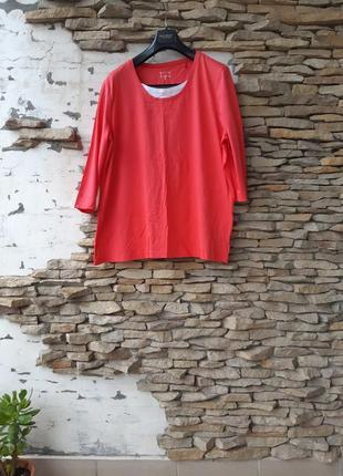 Суперовый котоновый пуловер,  лонгслив большого размера