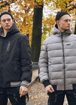Зимняя мужская куртка omar двухсторонняя
