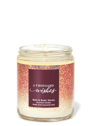 Свеча bath&body works - a thousand wishes