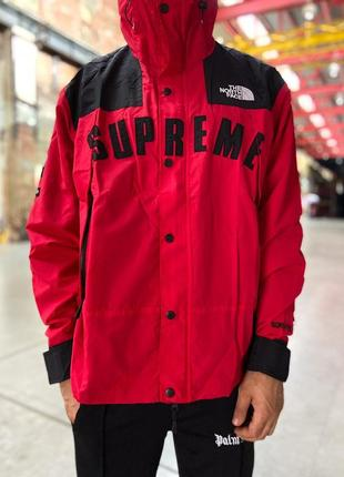 Куртка supreme x the north face gore tex red
