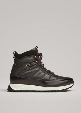 Ботинки кожаные massimo dutti, размер 45
