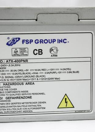 Блок питания FSP ATX-400W PNR на 400 Вт - Проверен!