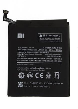 Аккумулятор Xiaomi BN31 Redmi Note 5A/5A Prime, Mi A1, Redmi S2