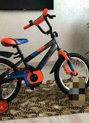 Велосипед двухколёсный Azimut Stitch Азимут Стич 14 дюймо