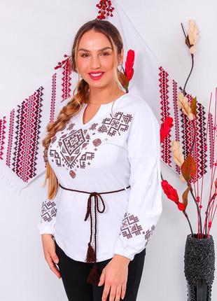Вышиванка женская с длинным рукавом