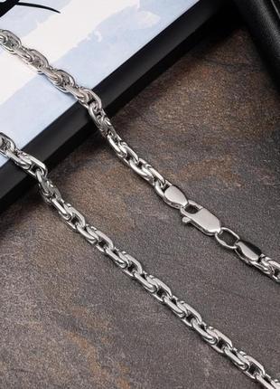 Серебряная цепочка московский бит 60 см 54,05 грамм арт 123