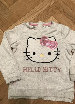 Кофта детская hello kitty h&m тёплая
