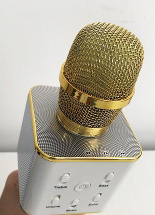 Микрофон караоке Q-7 Wireless, Золотой, Розовый, Чёрный