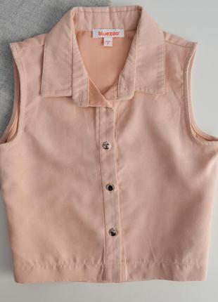 Блузочка на 8л,ткань под замш.