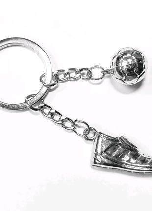 Металлический брелок Футбольный мяч и бутса