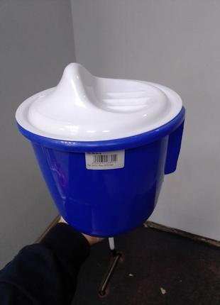 Рукомойник навесной с крышкой умывальник пластиковый дачный