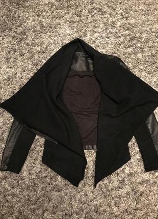 Пиджак кардинаг с вставками из эко кожи размер с