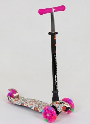 Самокат детский Best Scooter Maxi 1321 пластик, 4 колеса PU, свет