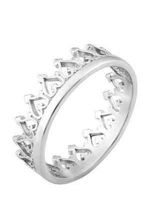 Кольцо серебро 925 корона вс048