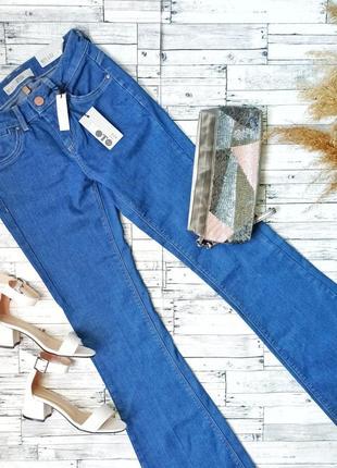 Topshop moto jesssie flare новые синие джинсы клёш женские с б...