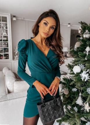 Модное платье ,зеленого цвета