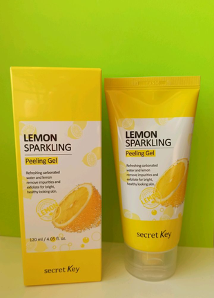Пилинг-скатка, гель лимонный для пилинга Secret key скраб, Корея