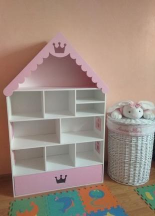 Стеллаж детский, стеллаж для игрушек, детских книг,домик для к...