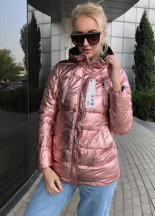 Куртка зеркальная перламутрова зимняя холофайбер