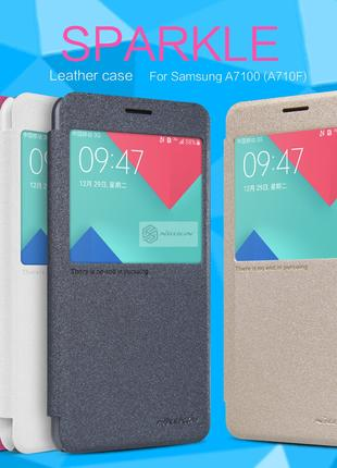 Фирменный чехол книжка Nillkin для Samsung Galaxy A7 2016 A710