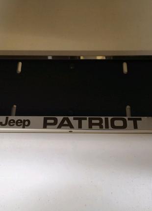 Рамка для номера Jeep Patriot. Подномерник.