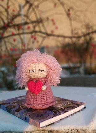 Интерьерная игрушка валентинка, ручная работа.