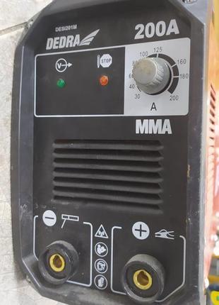 Сварочный аппарат Dedra mma 200a