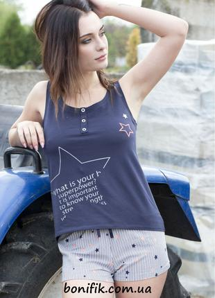 "Женская комплект пижамы ""Blue Star"" (арт. 1081)"