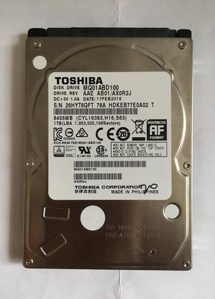 Жесткий диск Toshiba MQ01ABD100 1Tb для ноутбука