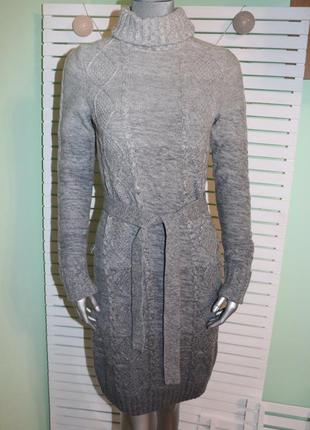 Вязаное платье гольф котон с шерстью esprit